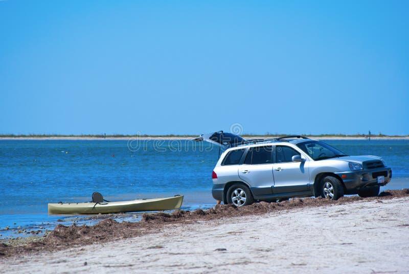 suv kayak запуская стоковые изображения rf