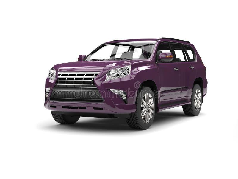 suv moderne violet fonc voiture familiale illustration stock illustration du v hicule. Black Bedroom Furniture Sets. Home Design Ideas