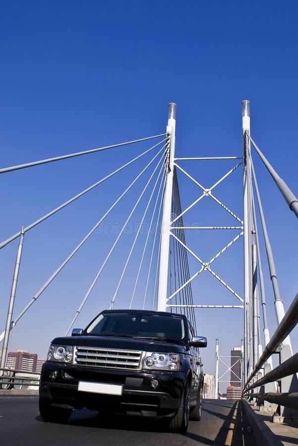 SUV on Nelson Mandela Bridge royalty free stock images