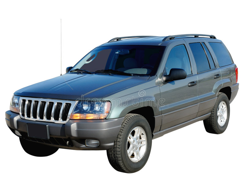 Suv, Outlined Royalty Free Stock Photo