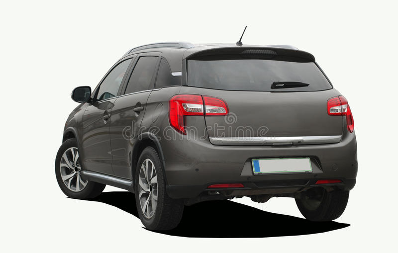 Suv. Rear side view of a suv royalty free stock photo