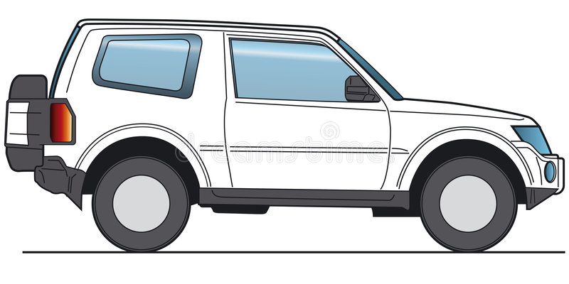 SUV Vector royalty free stock photo