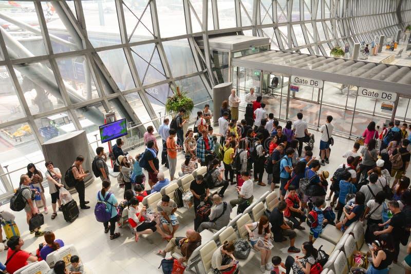 Suvanabhumi机场在曼谷 图库摄影
