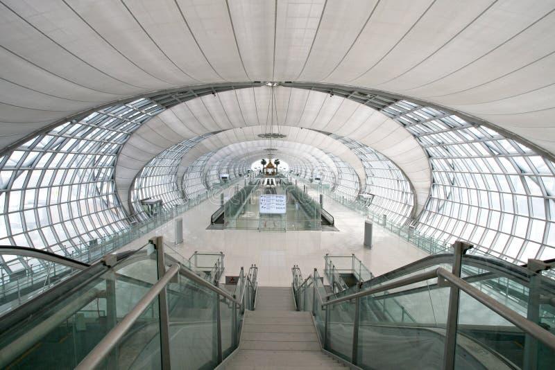 Suvanabhumi flygplats av Thailand royaltyfri bild