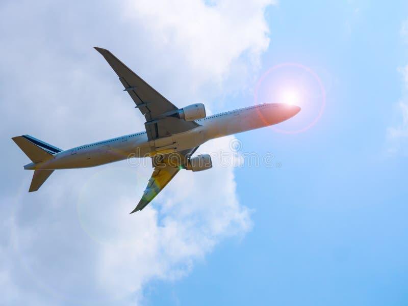 Suvarnabhumi Airpoart, THAILAND - MAART 18: Landende lucht Frankrijk a royalty-vrije stock foto