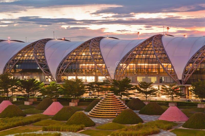 Suvarnabhumi flygplats, bangkok, Thailand fotografering för bildbyråer