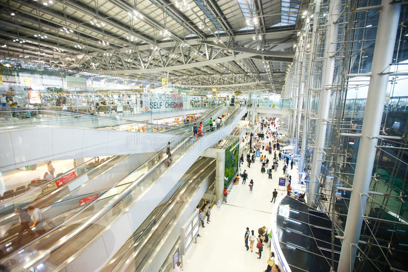 Suvarnabhumi Lotnisko Międzynarodowe fotografia stock