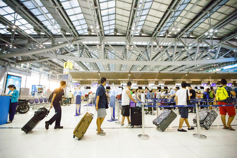 Suvarnabhumi Lotnisko Międzynarodowe zdjęcia royalty free