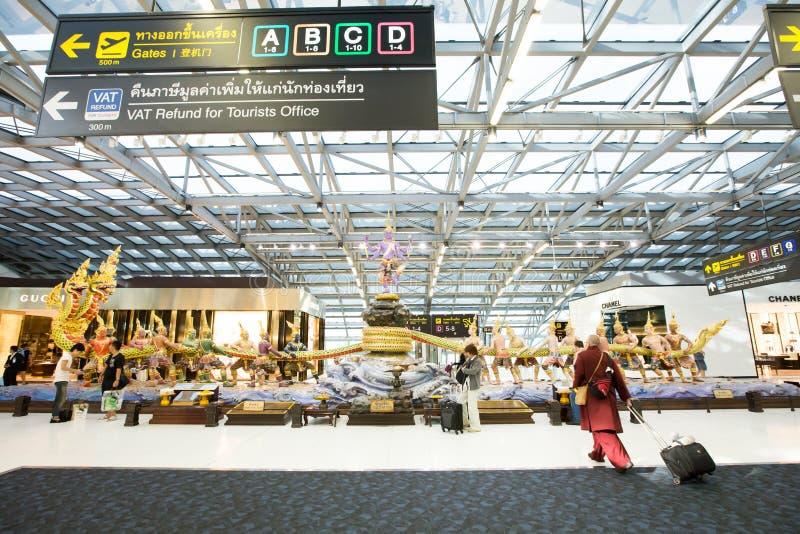 Suvarnabhumi Lotnisko Międzynarodowe zdjęcia stock