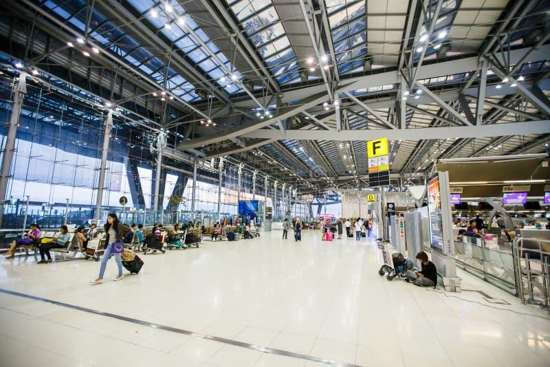 Suvarnabhumi Lotnisko Międzynarodowe obraz stock