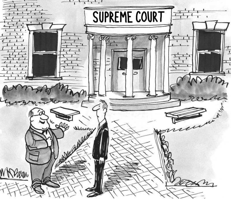 suverän domstol stock illustrationer