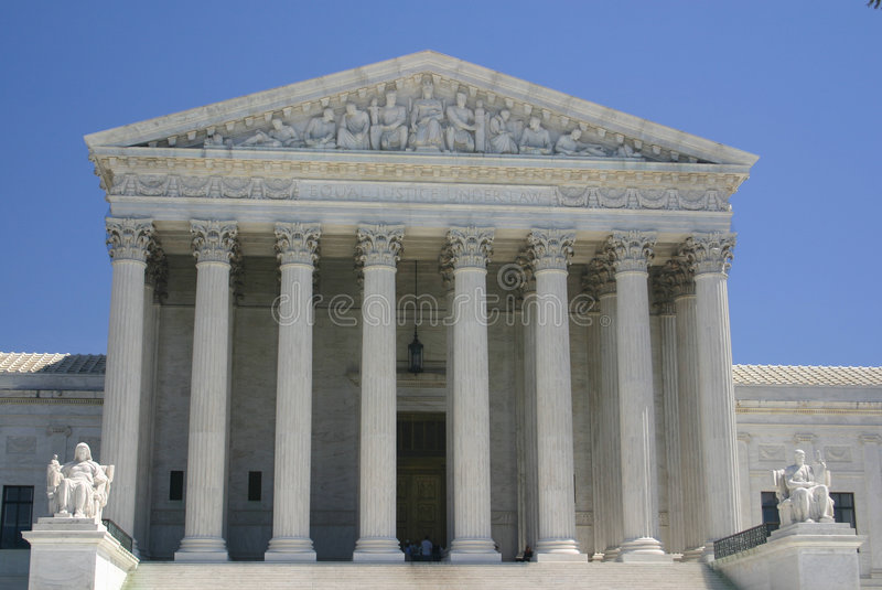 suverän domstol oss royaltyfri fotografi