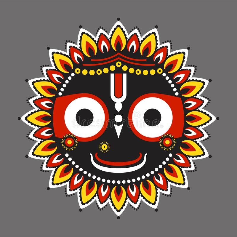 Suveräna Lord Jagannatha royaltyfri illustrationer