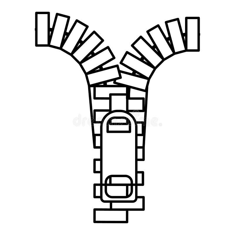 Suwaczek ikona, konturu styl ilustracji