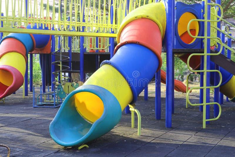Suwak dla dzieci w parku fotografia royalty free