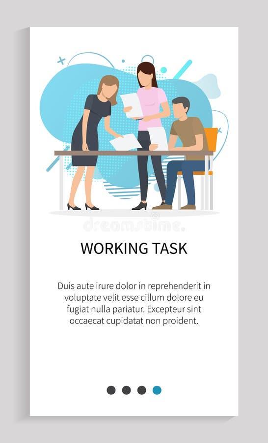 Suwak Szef i Pracownicy zespołu zadań roboczych ilustracji
