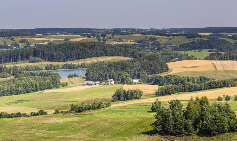 Suwalski krajobrazu park, Polska fotografia stock