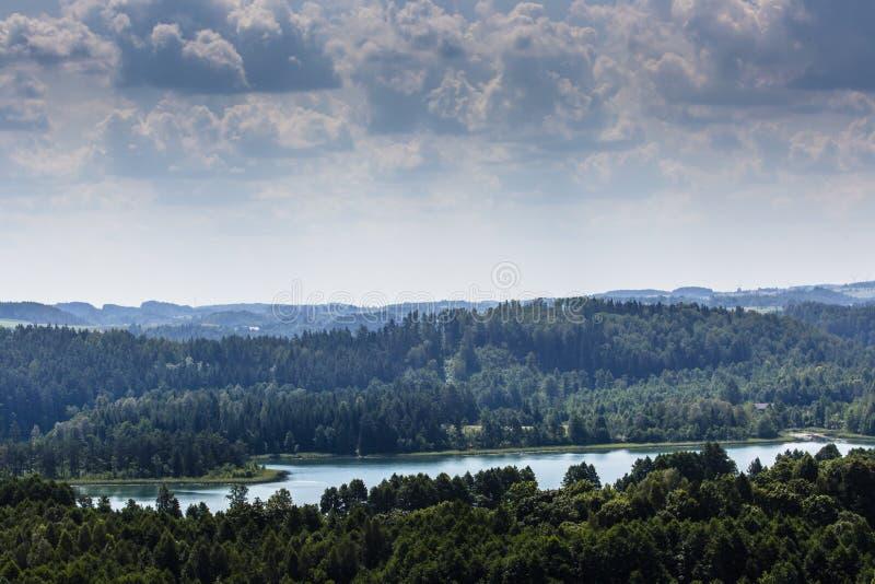 Suwalski krajobrazu park, Polska zdjęcia royalty free