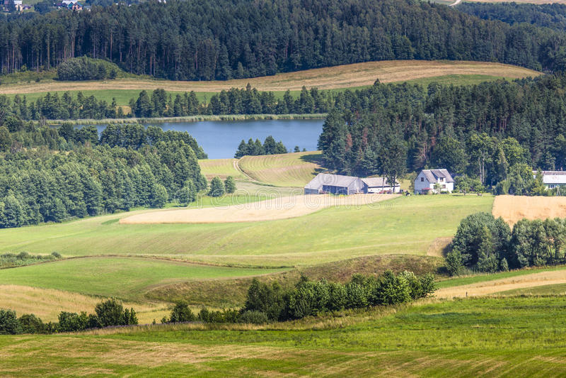 Suwalski krajobrazu park w Polska zdjęcie stock