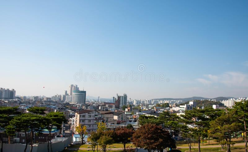 Suwon city scape. In Korea stock images