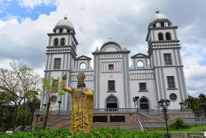 Suyapa教会大教堂在特古西加尔巴,洪都拉斯 库存图片