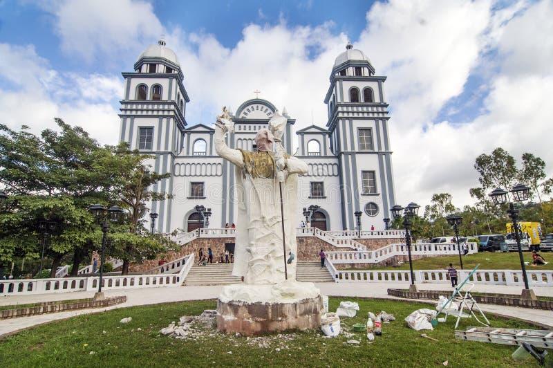 Suyapa kyrka i Honduras royaltyfria bilder