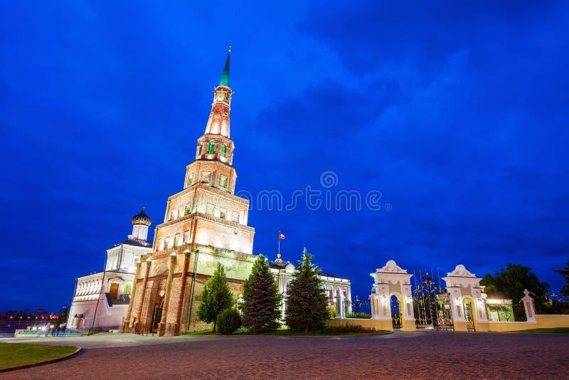 Suyumbike Góruje także dzwoni Khans meczet Kazan Kreml zdjęcia royalty free