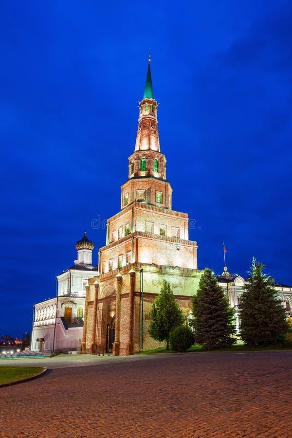 Suyumbike Góruje także dzwoni Khans meczet Kazan Kreml obrazy stock