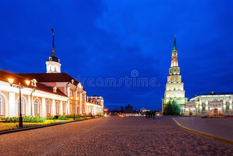 Suyumbike Góruje także dzwoni Khans meczet Kazan Kreml obraz royalty free