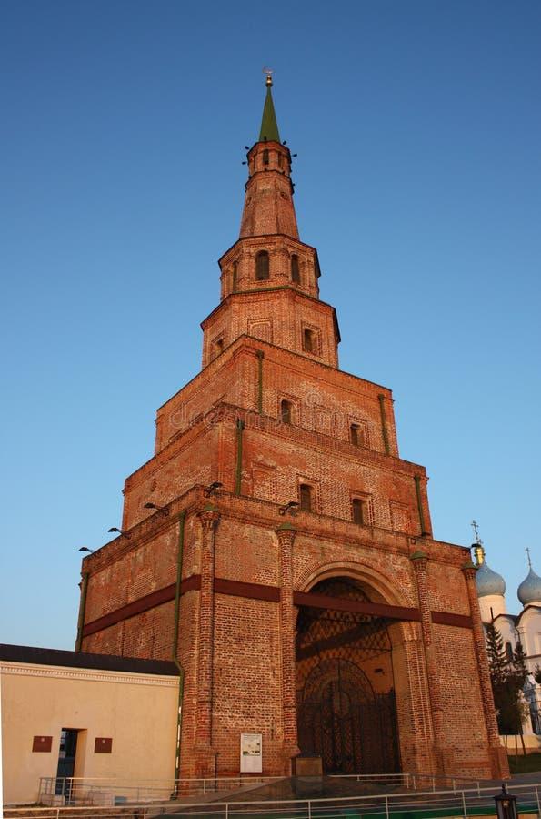 Suyumbike wierza w Kazan Kremlin. obrazy royalty free