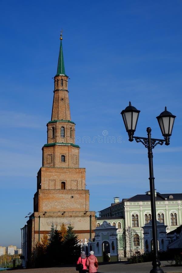 Suyumbiketoren, Kazan het Kremlin, Kazan Rusland stock foto's