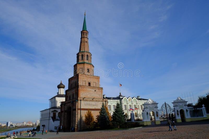Suyumbiketoren, Kazan het Kremlin, Kazan Rusland royalty-vrije stock afbeelding