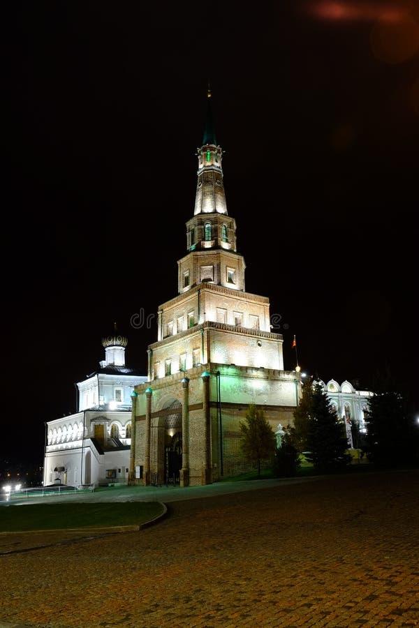 Suyumbiketoren, Kazan het Kremlin, Kazan Rusland royalty-vrije stock foto