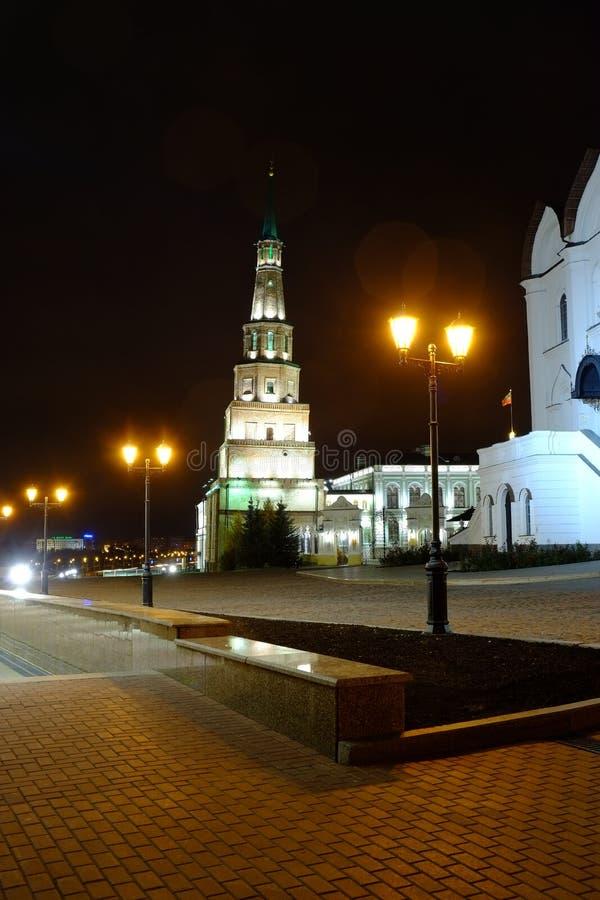 Suyumbiketoren, Kazan het Kremlin, Kazan Rusland royalty-vrije stock foto's