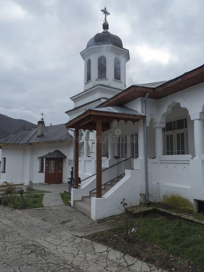 Suzana Monastery courtyard, Romania royalty free stock photos
