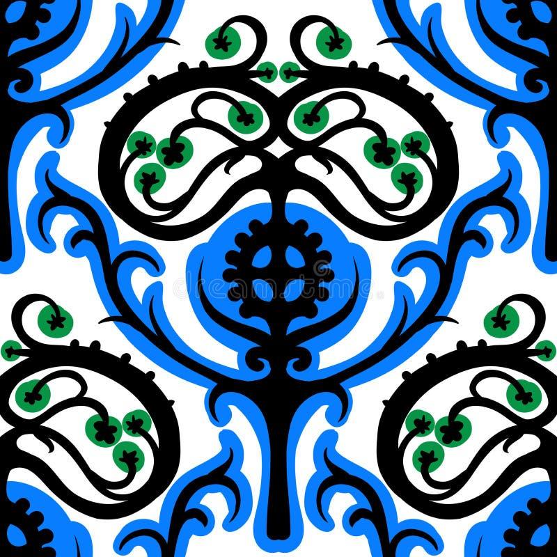Suzani, modèle ethnique avec des motifs kazakhs illustration de vecteur