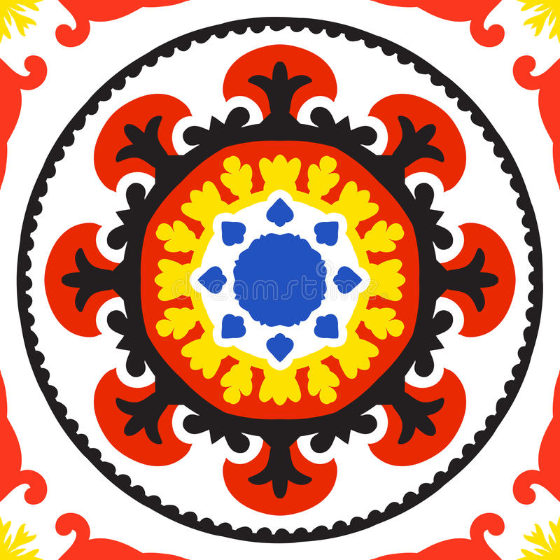 Suzani-Muster vektor abbildung