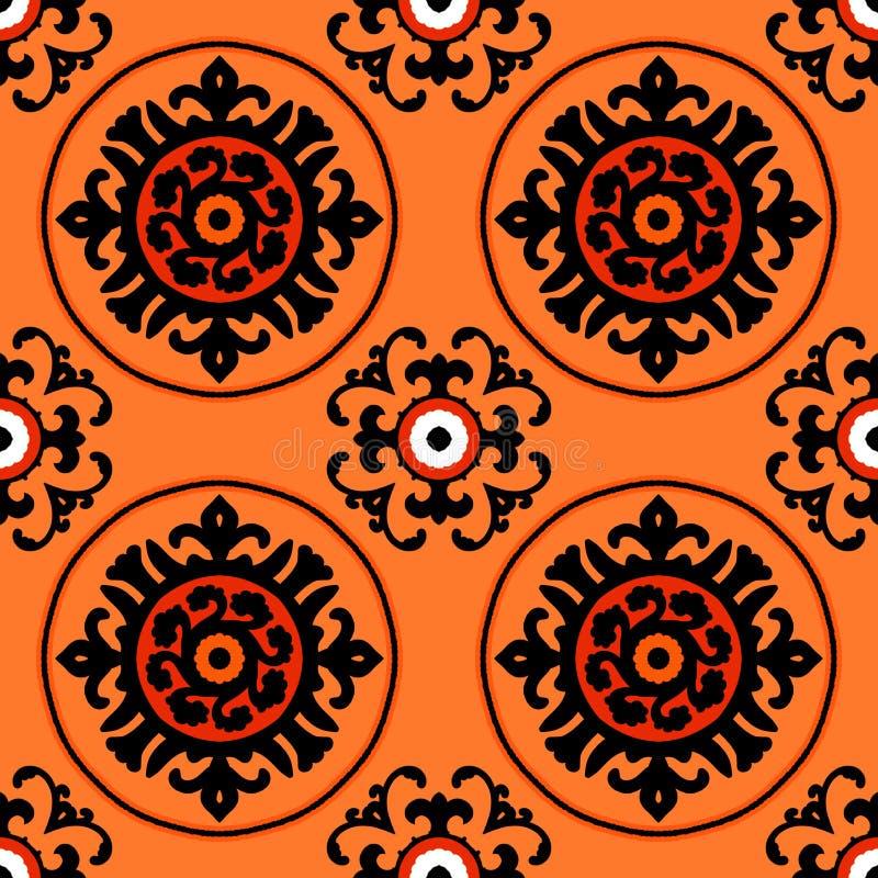 Suzani pattern royalty free illustration