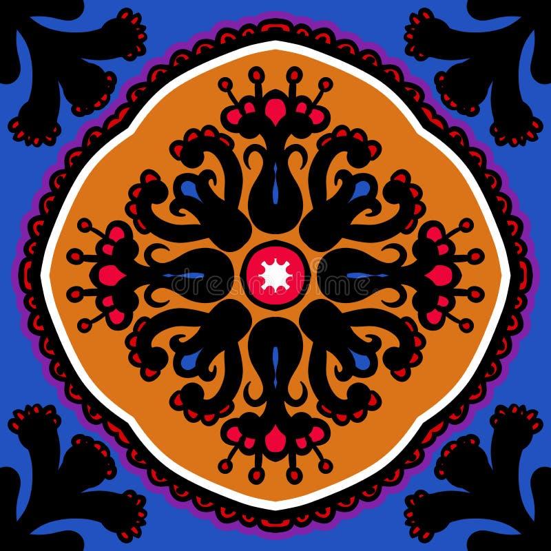 Suzani, wektorowy bezszwowy etniczny wzór ilustracji