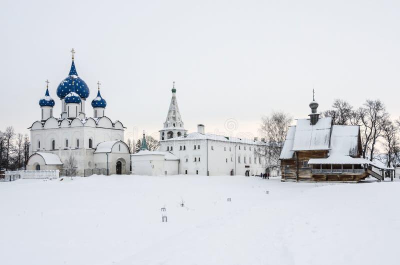Suzdal Кремль Кристмас стоковые фотографии rf