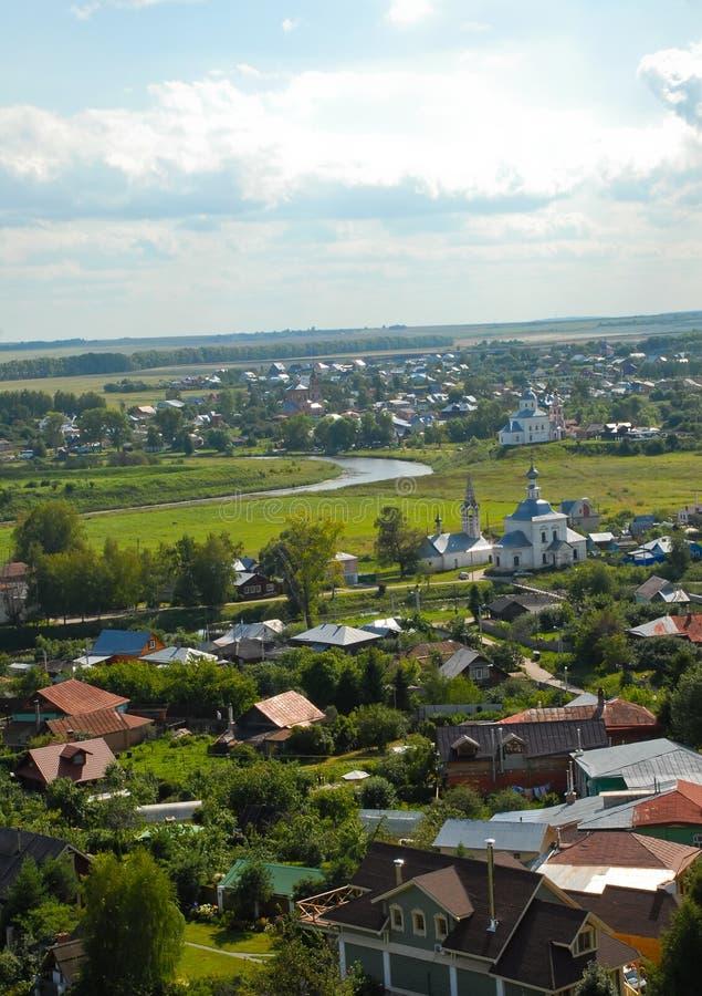 Suzdal Ansicht der Stadt von oben lizenzfreies stockfoto