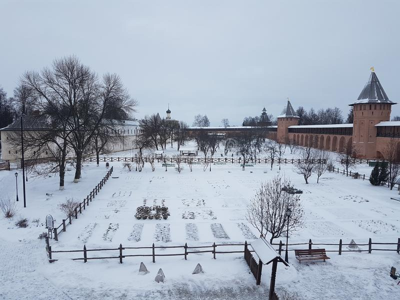 Suzdal der Kreml, Russland Suzdal ist ein Teil des goldenen Ringes von Russland und von UNESCO-Standort Berühmter touristischer B stockbilder