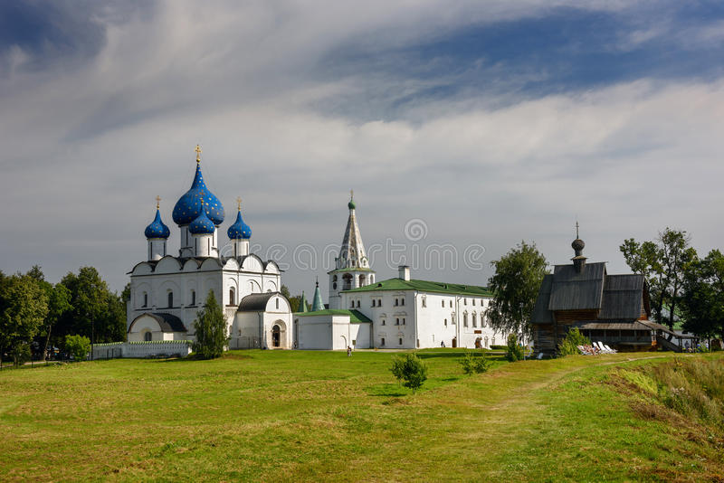 Suzdal het Kremlin Suzdal, Gouden Ring van Rusland stock afbeelding