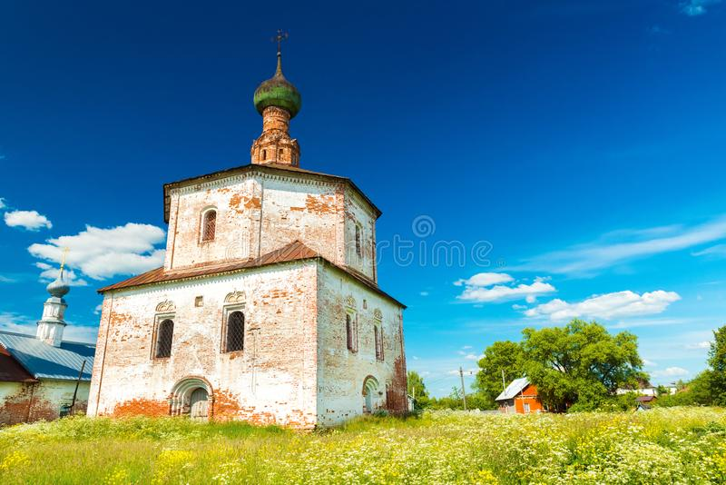Suzdal - July 2018, Russia: Building of The Old Church stock photo