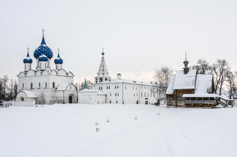 Suzdal Kremlin Christmas royalty free stock photos
