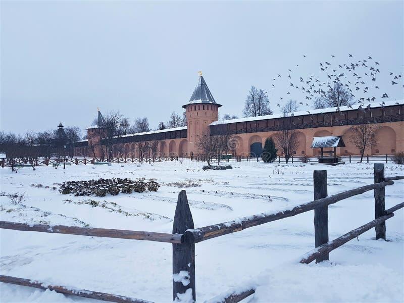 Suzdal Kremlin, Rússia Suzdal é parte do anel dourado de Rússia e de um local do UNESCO Destino famoso do turista antigo fotos de stock