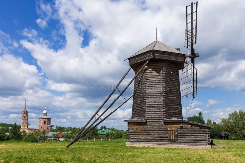 Suzdal (muzeum drewniana architektura), Złoty pierścionek Rosja obrazy stock