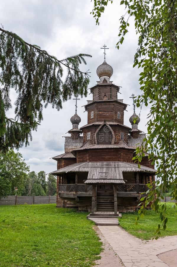 Suzdal is an old wooden Church from ebony royalty free stock photo