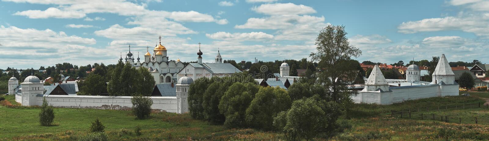 Suzdal, RUSSIA - July 29, 2018: Pokrovsky Monastery royalty free stock images