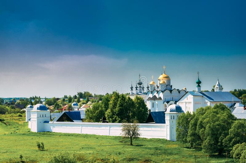 Suzdal, Russia. Old Convent Of The Intercession Or Pokrovsky Monastery royalty free stock images